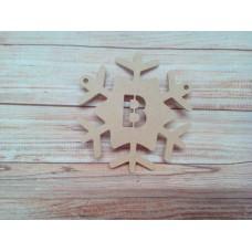 4mm MDF Snowflake Bunting